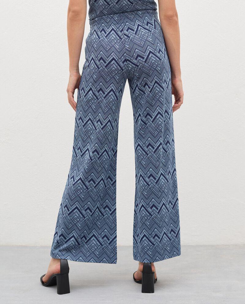 Pantaloni a palazzo con filo lurex donna single tile 1