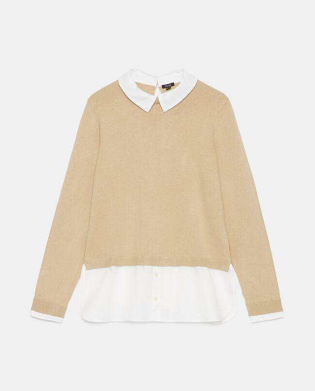Maglia con inserto camicia donna carousel 0