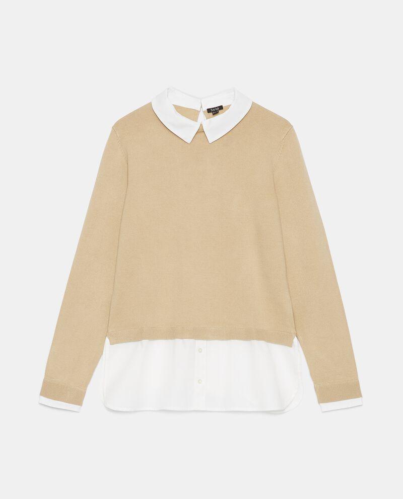 Maglia con inserto camicia donna cover