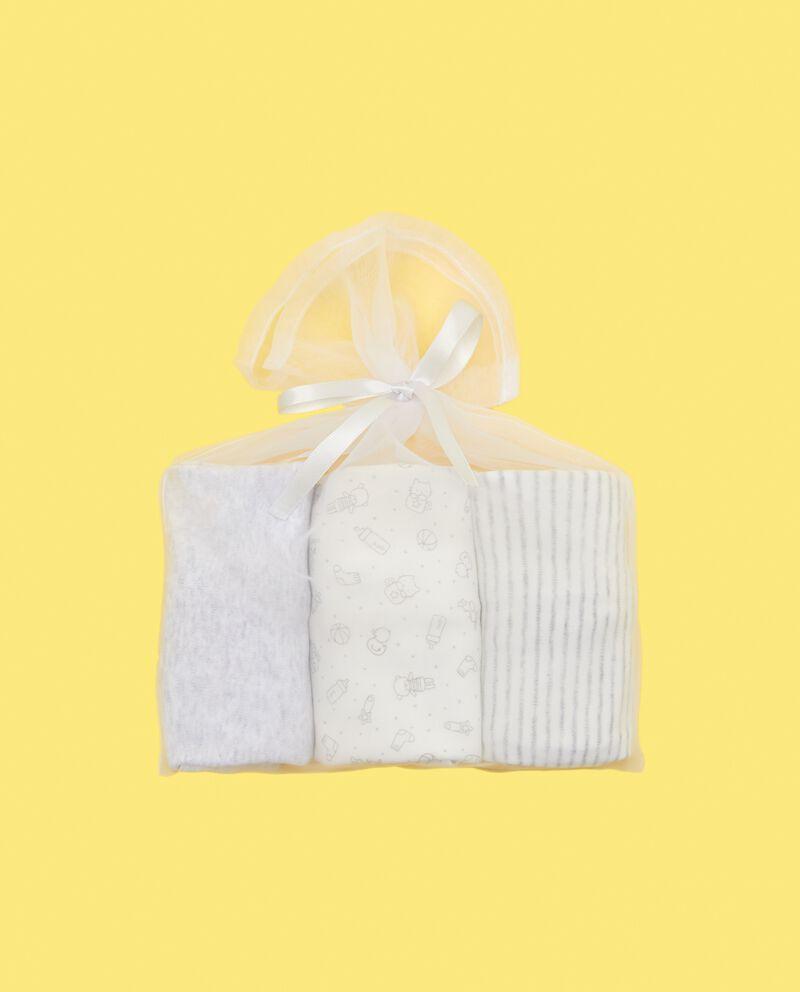 Set 3 bustine corredino nascita in puro cotone