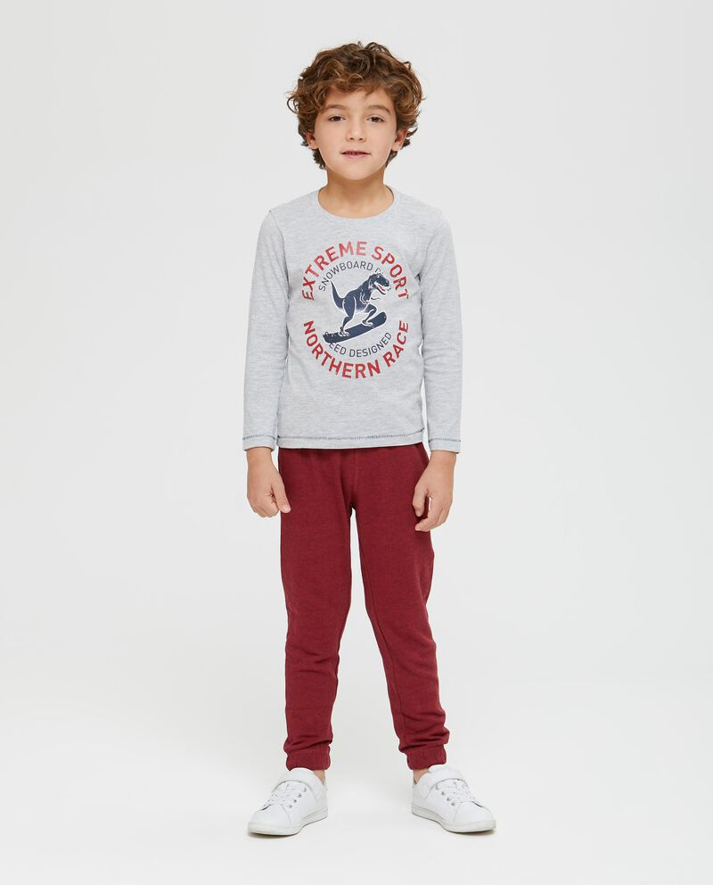 T-shirt stampa lettering e t-rex