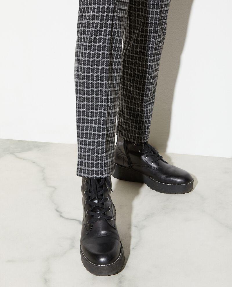 Leggings morbido a quadri donna