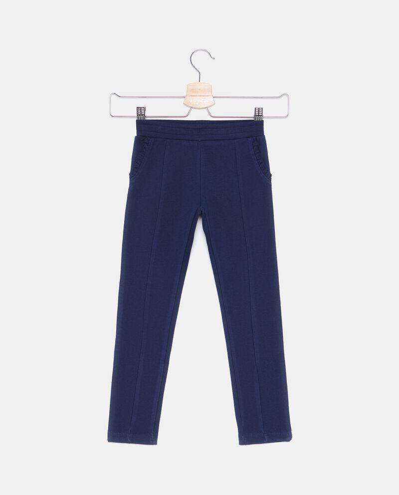 Pantaloni in tinta unita bambina