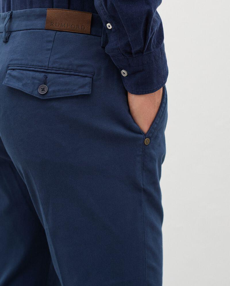 Pantaloni chino in cotone stretch uomodouble bordered 2