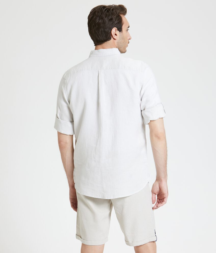 Camicia in puro lino a maniche arrotolate uomo