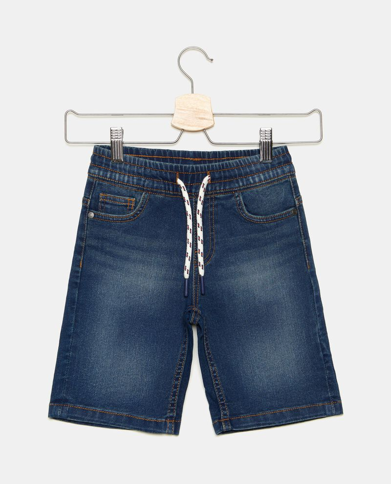 Shorts bambino in denim con cordoncino