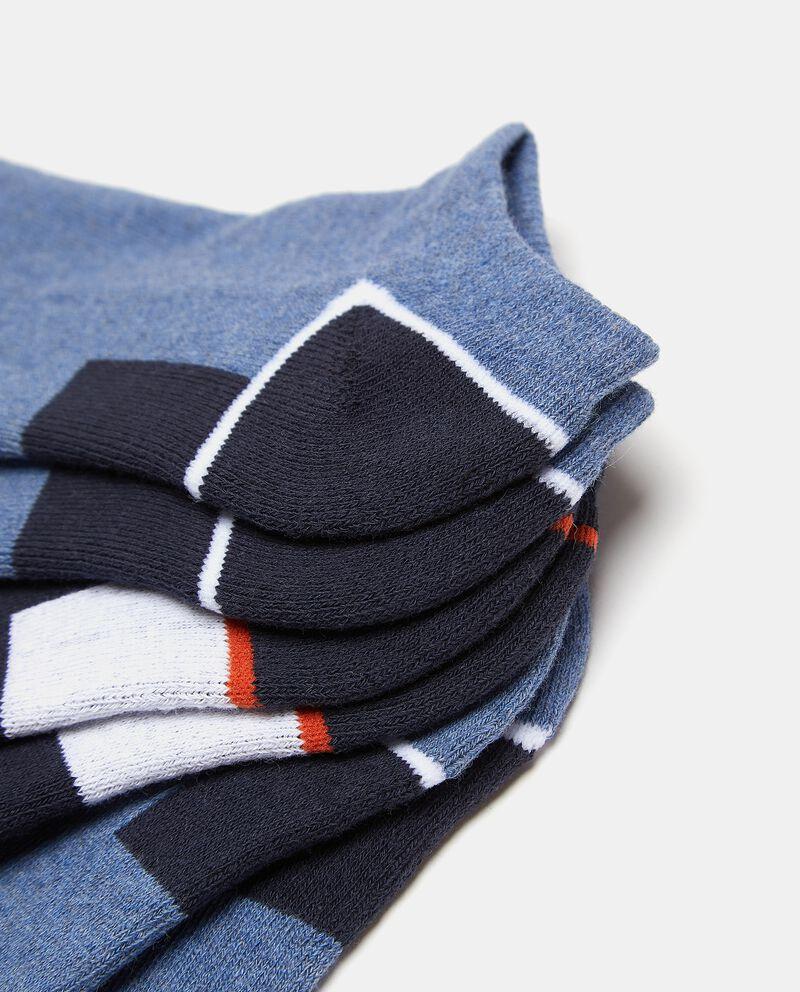 Set con tre paia di calzini in cotone elasticato uomo