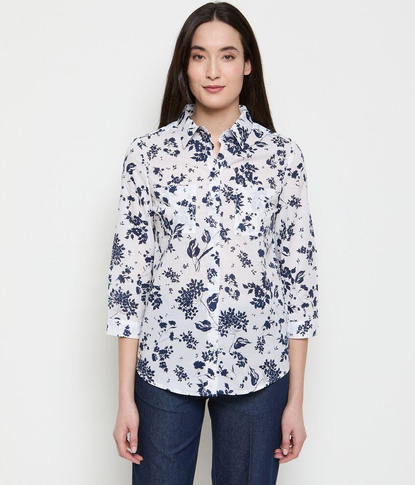 Camicia stampata in cotone organico donna