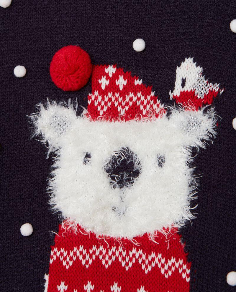 Maglione con decoro natalizio bambina