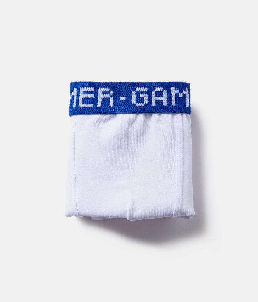 Boxer con fascia elastica con lettering