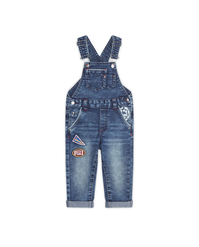 Salopette di jeans con patch