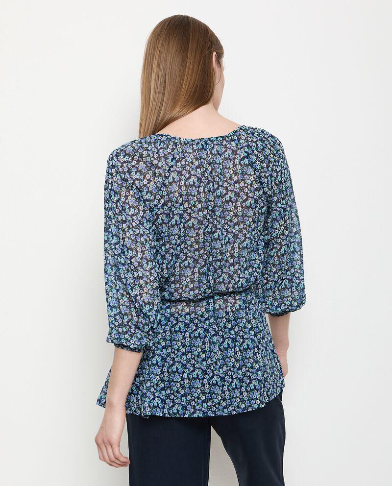 Camicia floreale con coulisse donna single tile 1