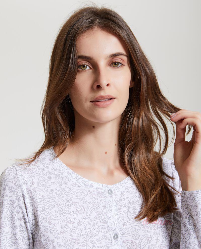 Camicia da notte con fantasia arabesque donna