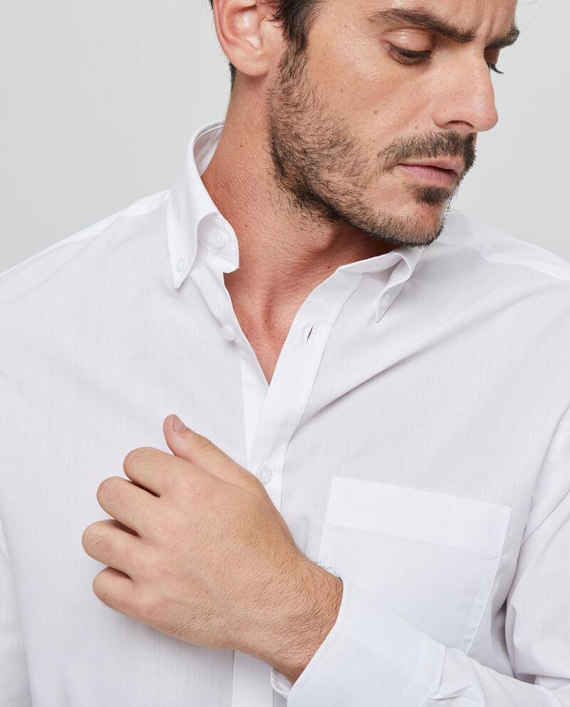 Camicia tinta unita taschino sul petto