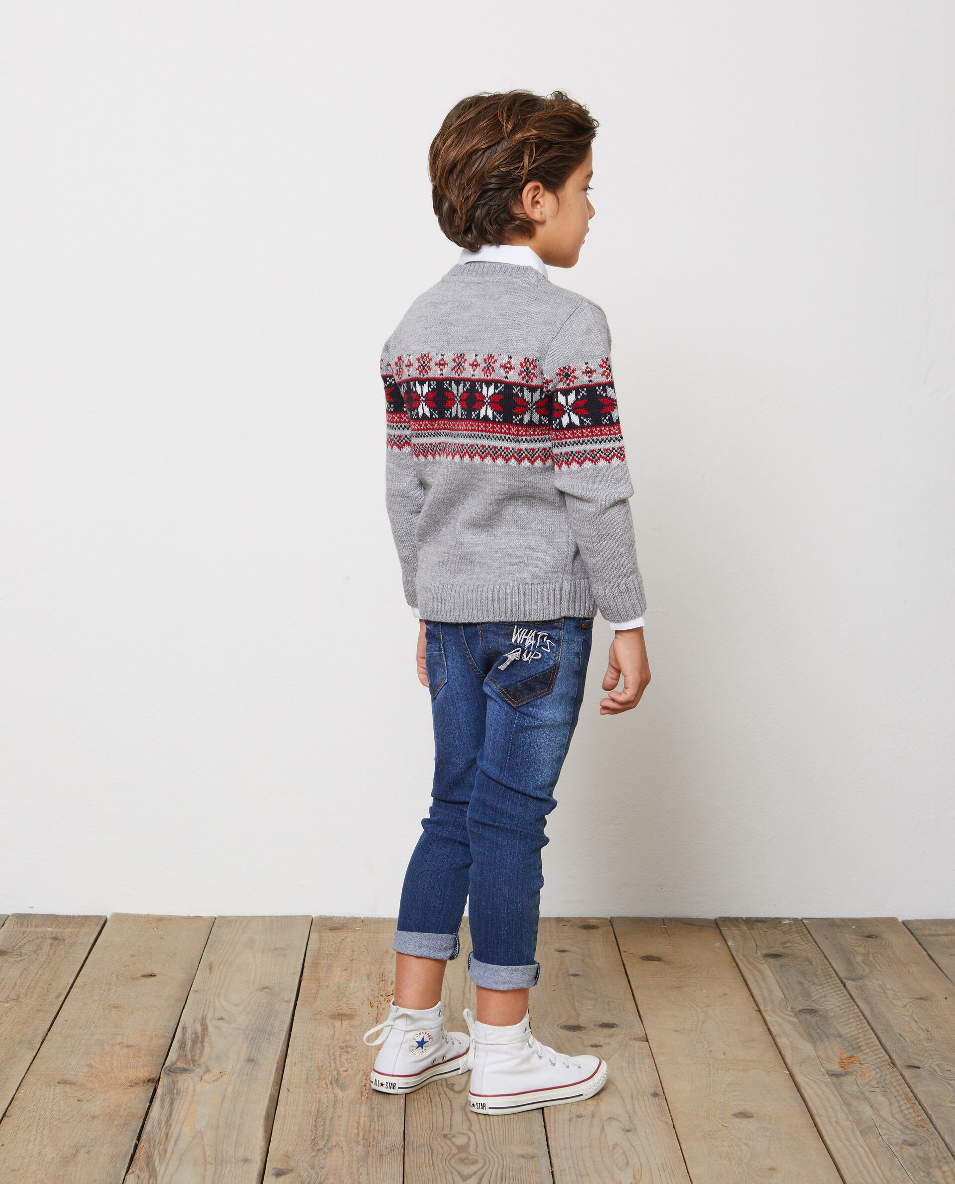 Pullover lavorato tricot motivo natalizio
