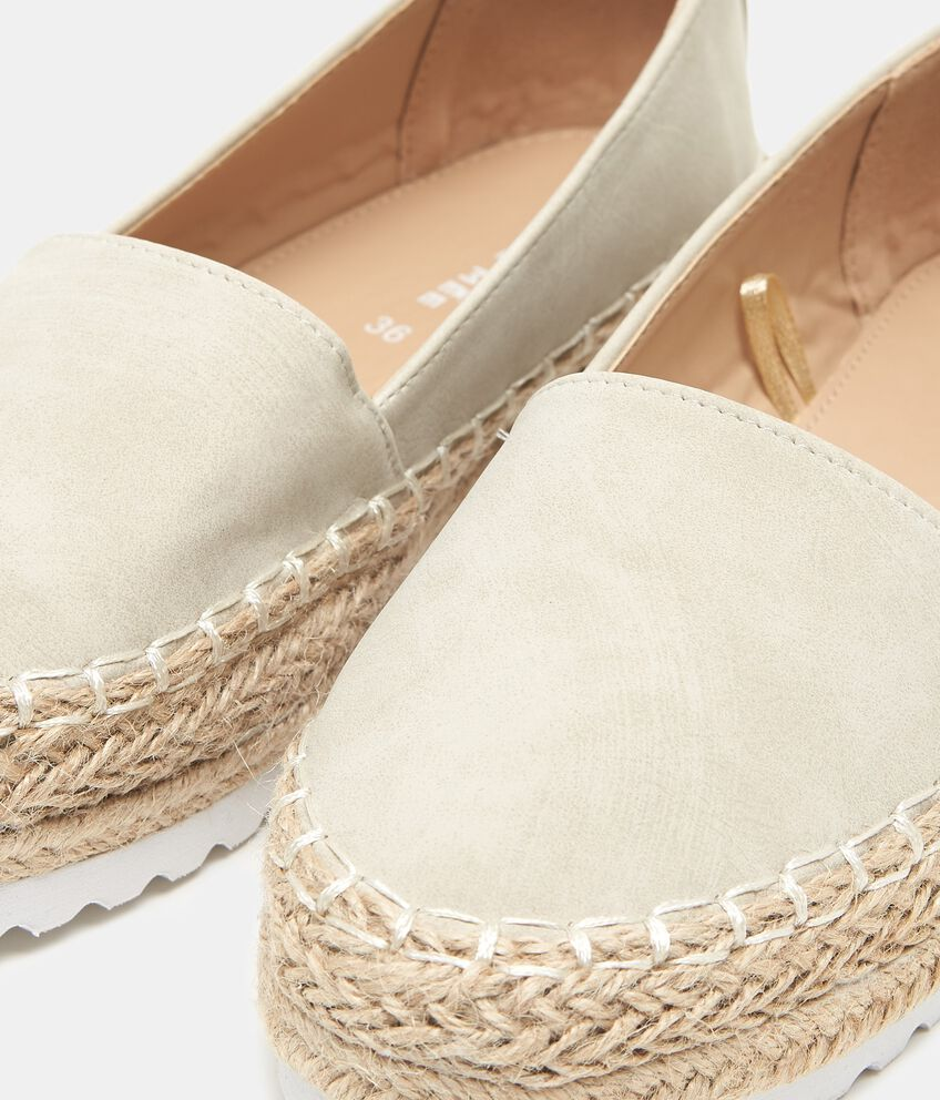 Sandalo espadrillas suola alta donna