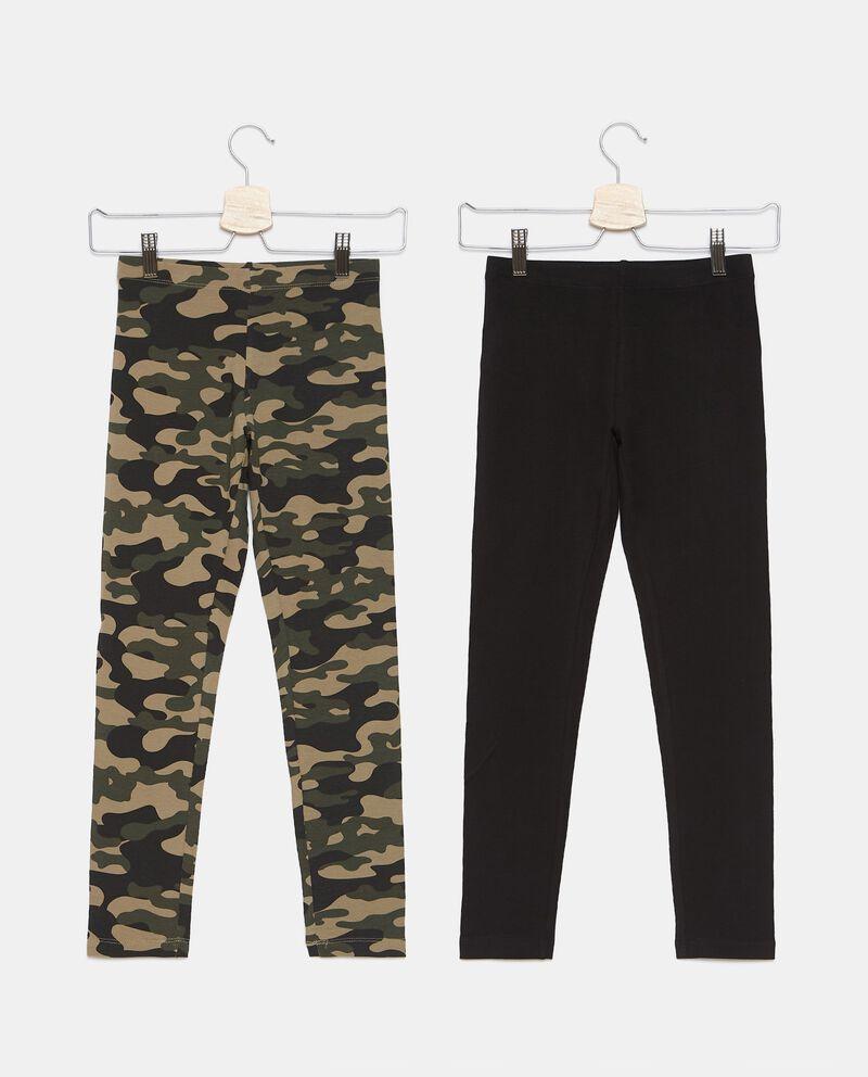 Bipack 2 leggings di cotone biologico stretch ragazzadouble bordered 0