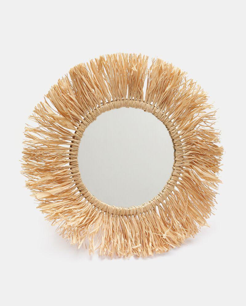 Specchio in fibra naturale