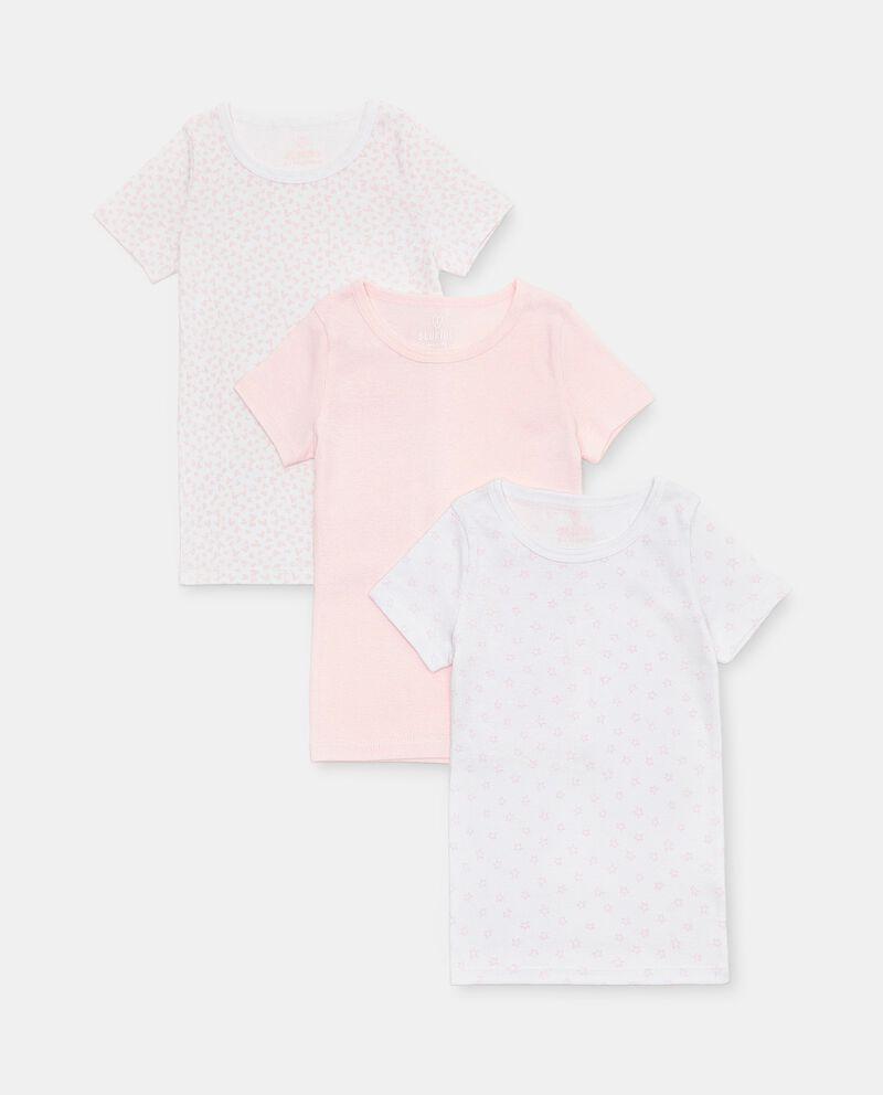 Set di 3 t-shirt intime di puro cotone biologico bambina cover