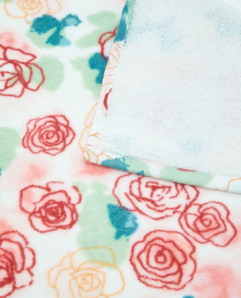 Telo in puro cotone con fantasia rose
