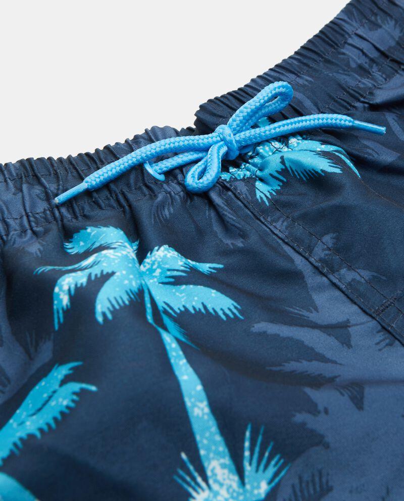 Shorts costume con fantasia palme