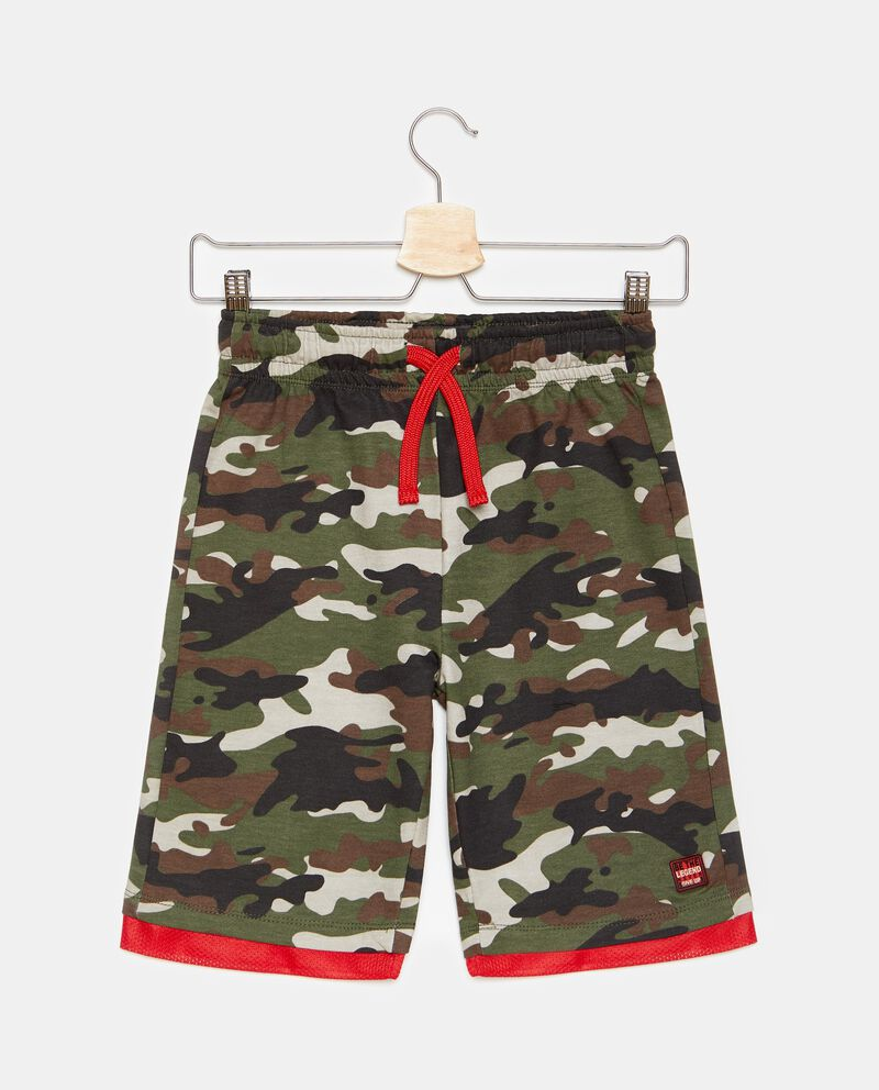 Shorts in cotone fantasia camouflage