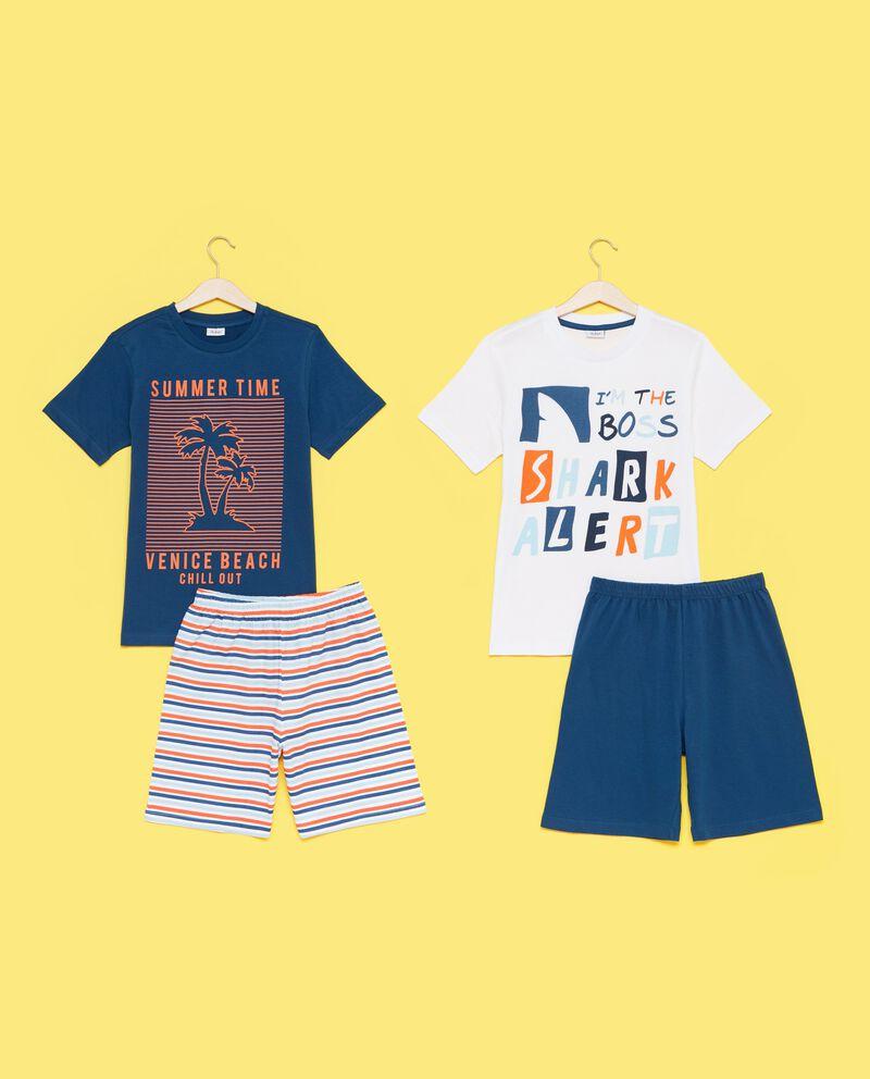 Bipack pigiami con t-shirt e shorts ragazzo
