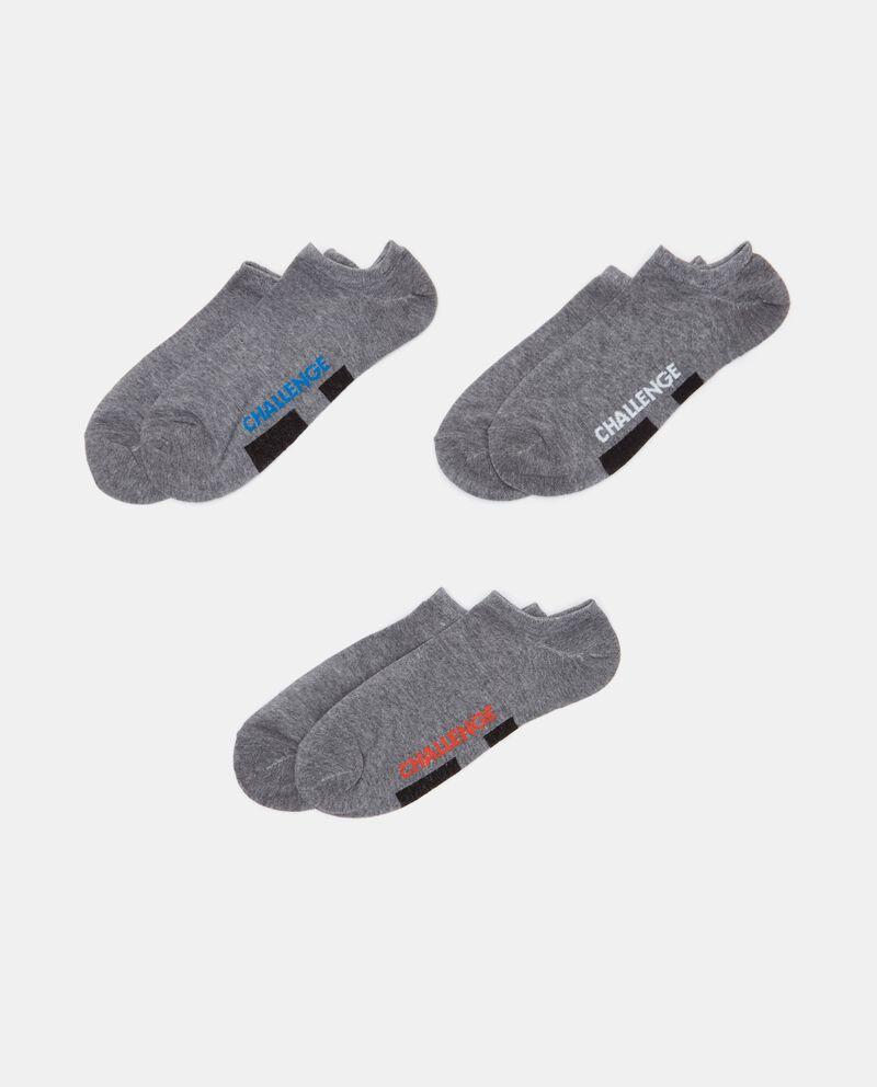 Set con 3 paia di calzini in cotone elasticizzato uomo