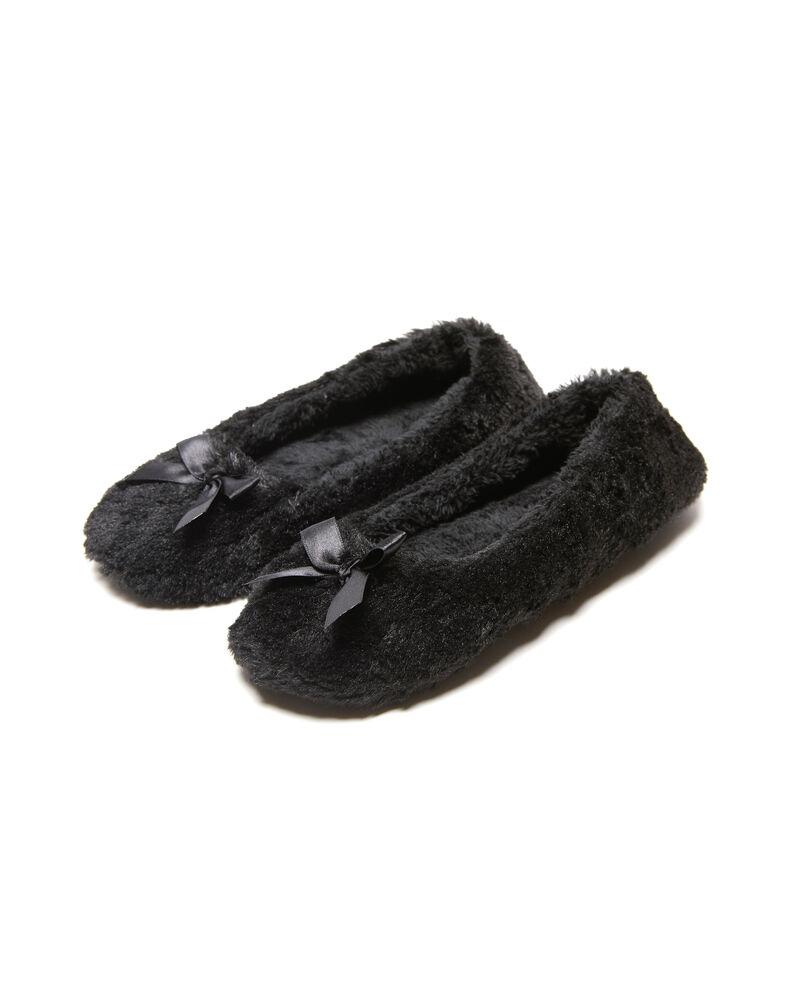 Pantofole ballerine effetto pelliccetta