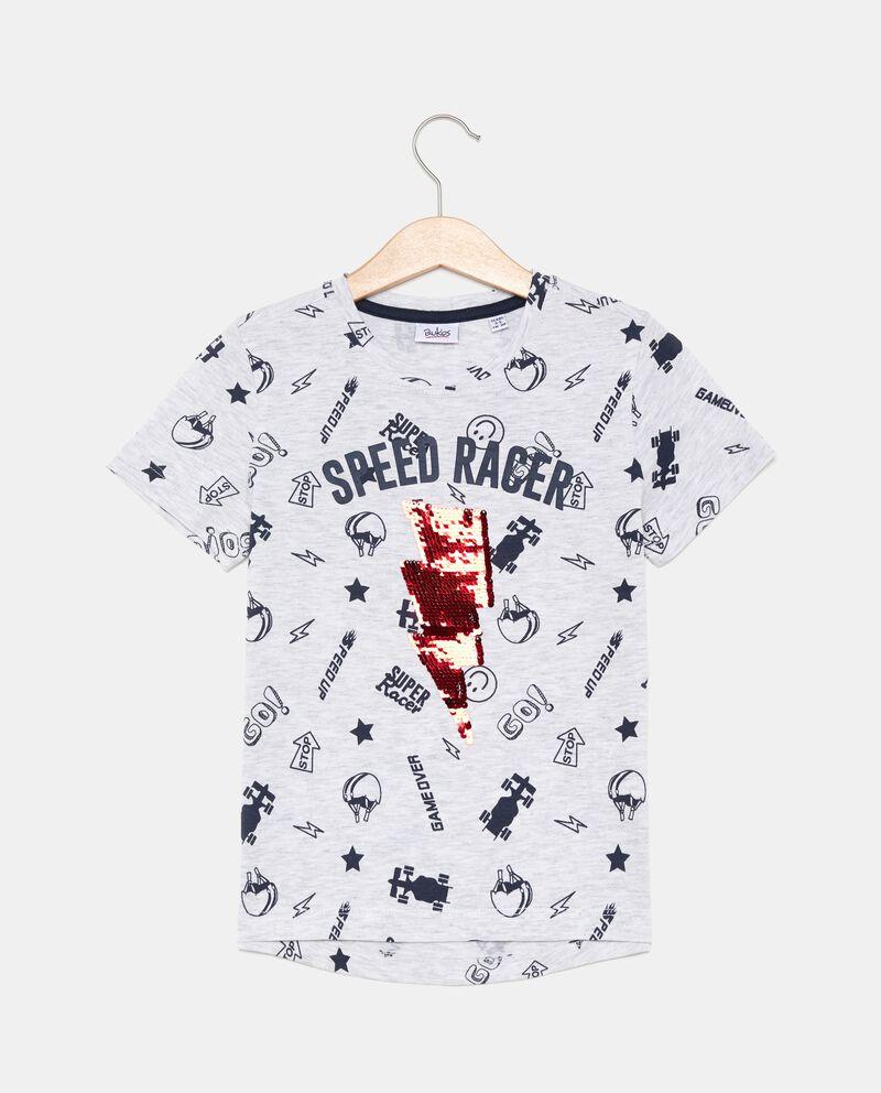 T-shirt con fulmine bambino
