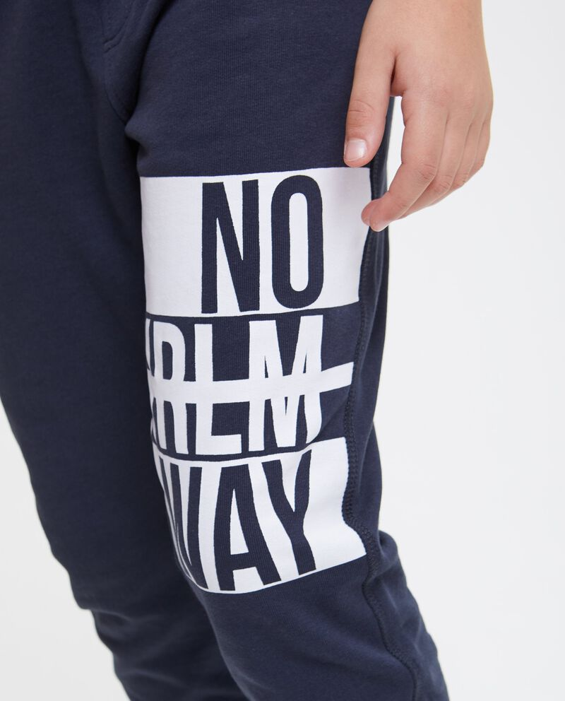 Pantaloni cotone con tasca posteriore