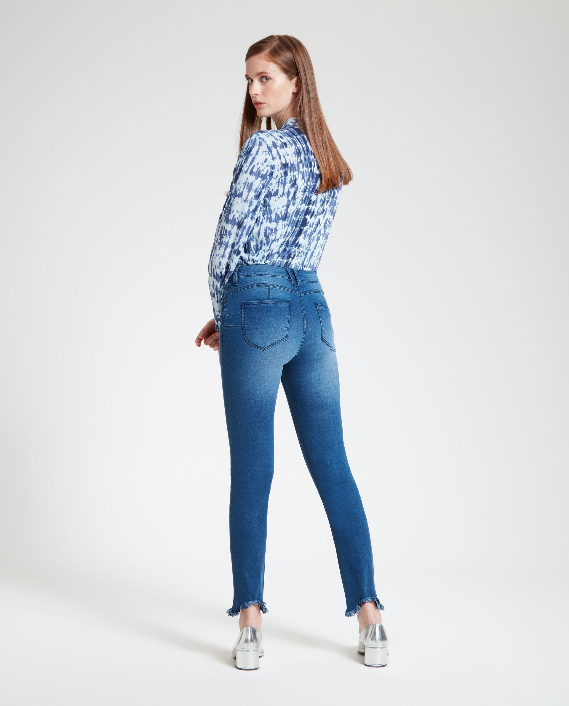 Jeans skinny donna sfrangiati