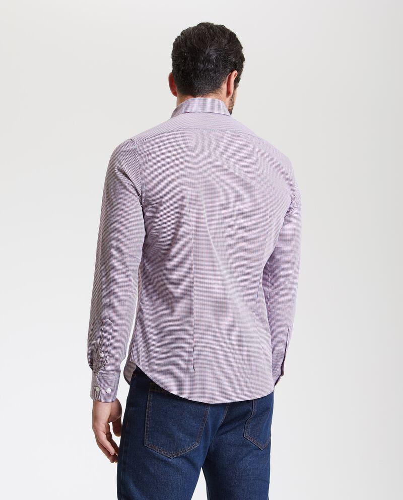 Camicia a micro quadretti uomo