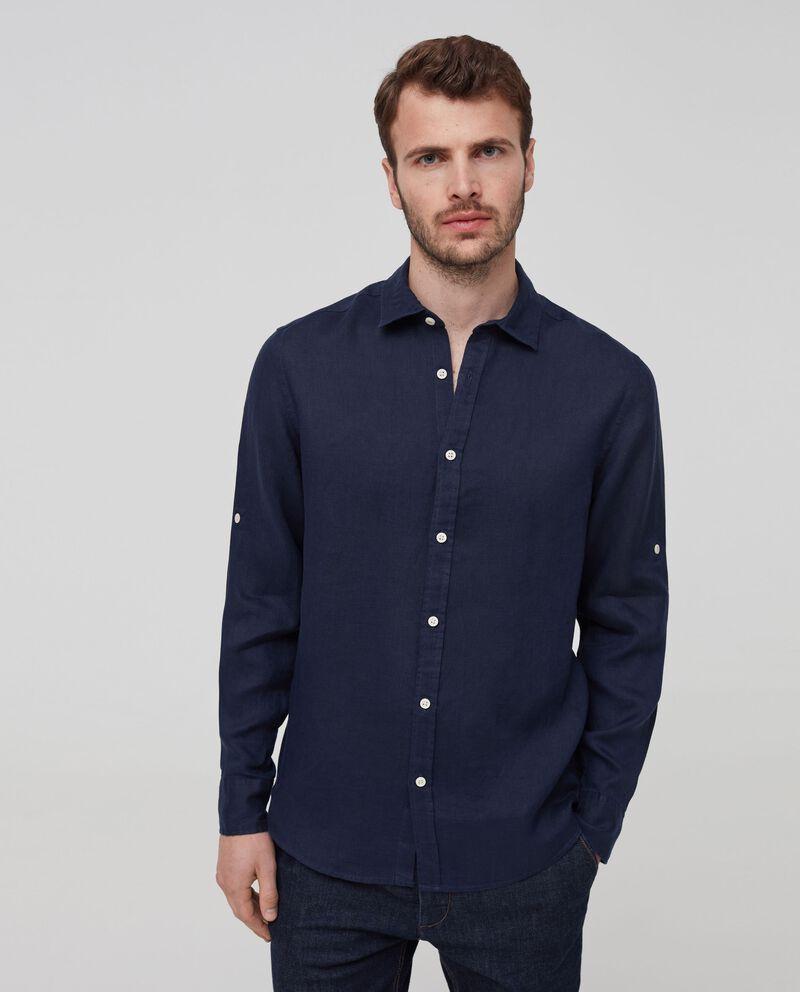 Camicia puro lino colletto francese