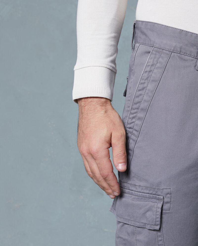 Pantaloni cargo in puro cotone