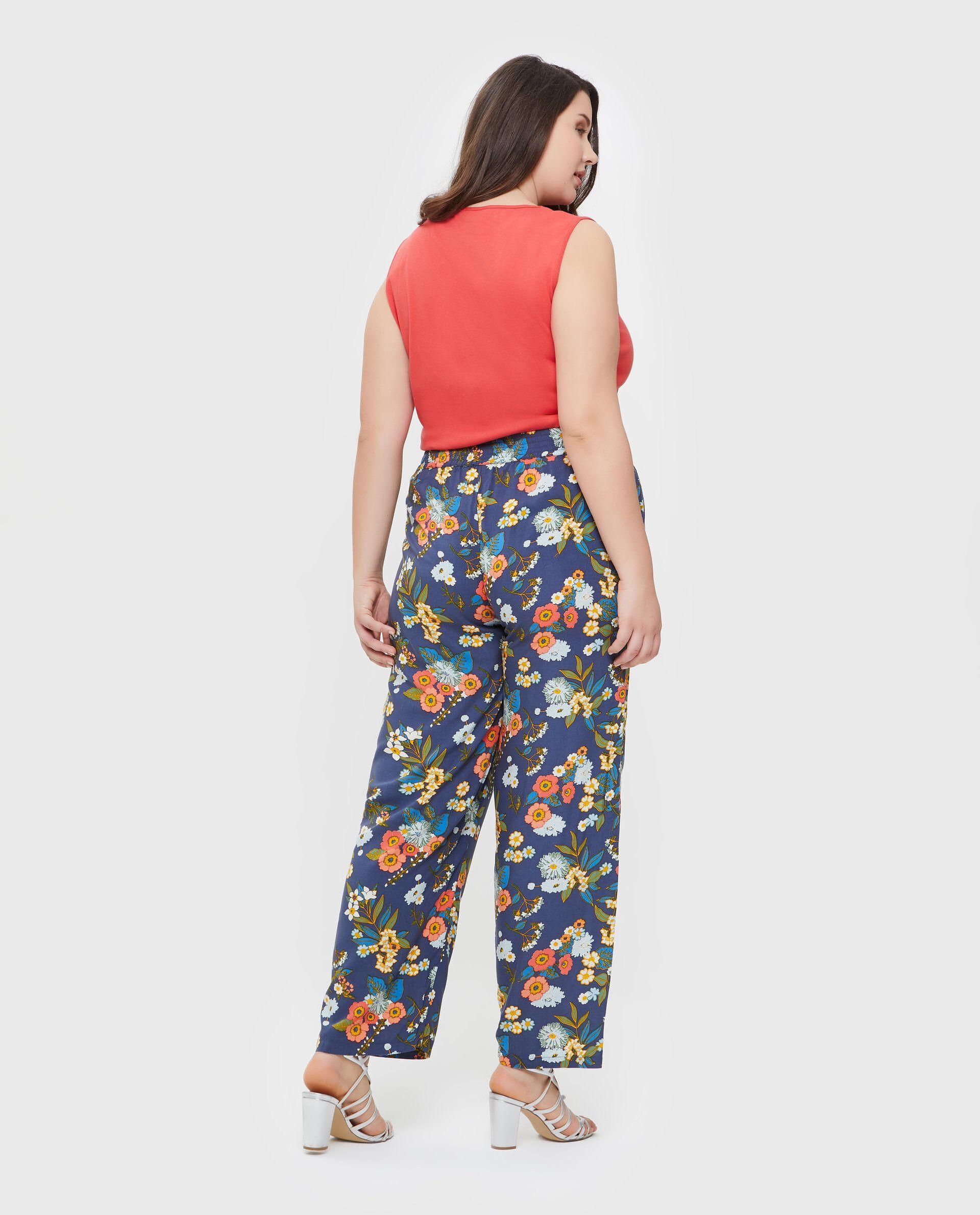 Pantaloni palazzo donna in pura viscosa Curvy