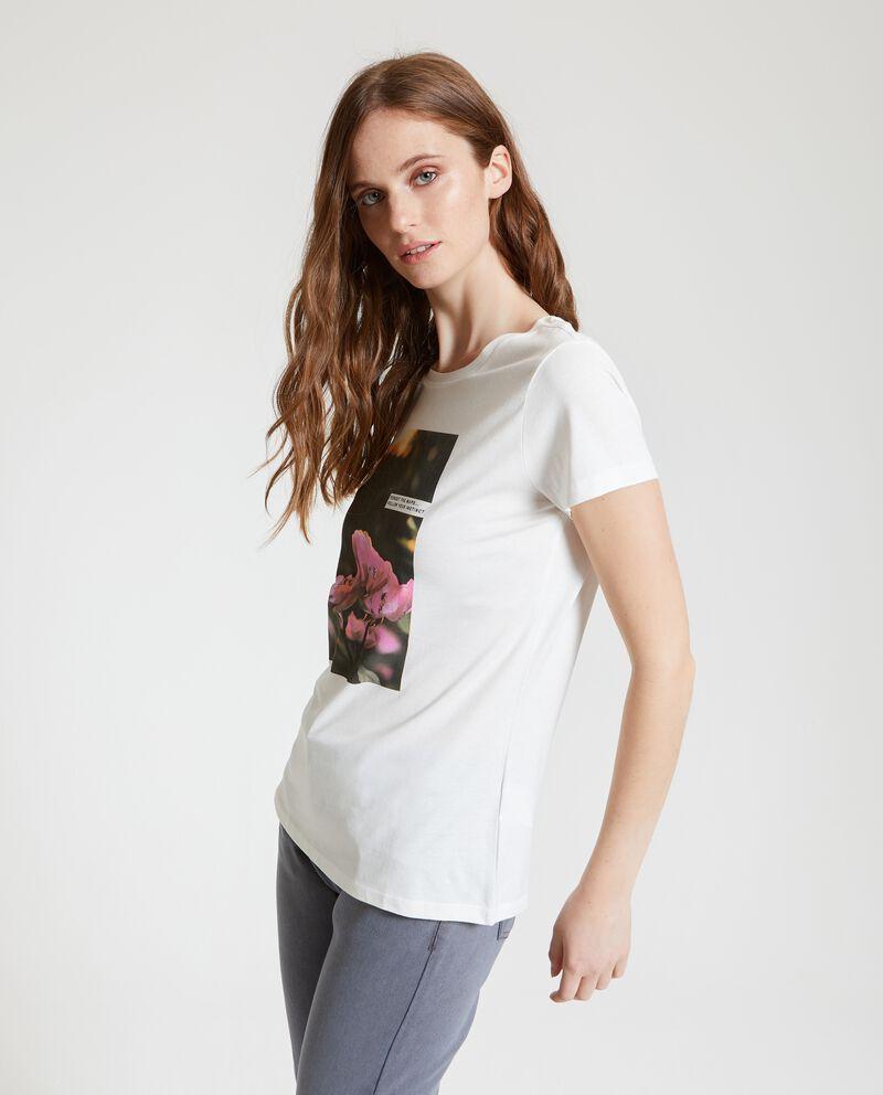 T-shirt in puro cotone con stampa single tile 1
