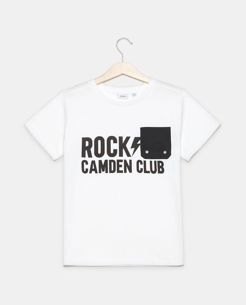 T-shirt in puro cotone girocollo con taschino applicato ragazzo
