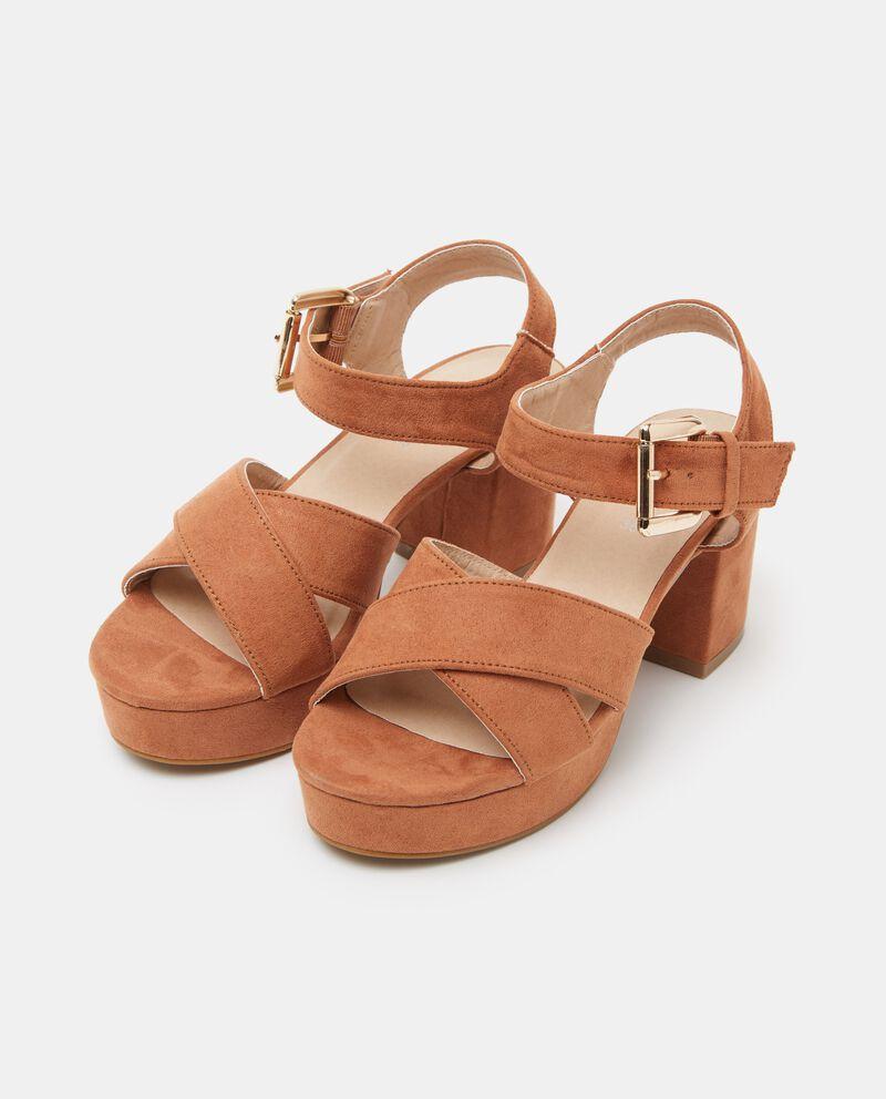 Sandali effetto camoscio donna