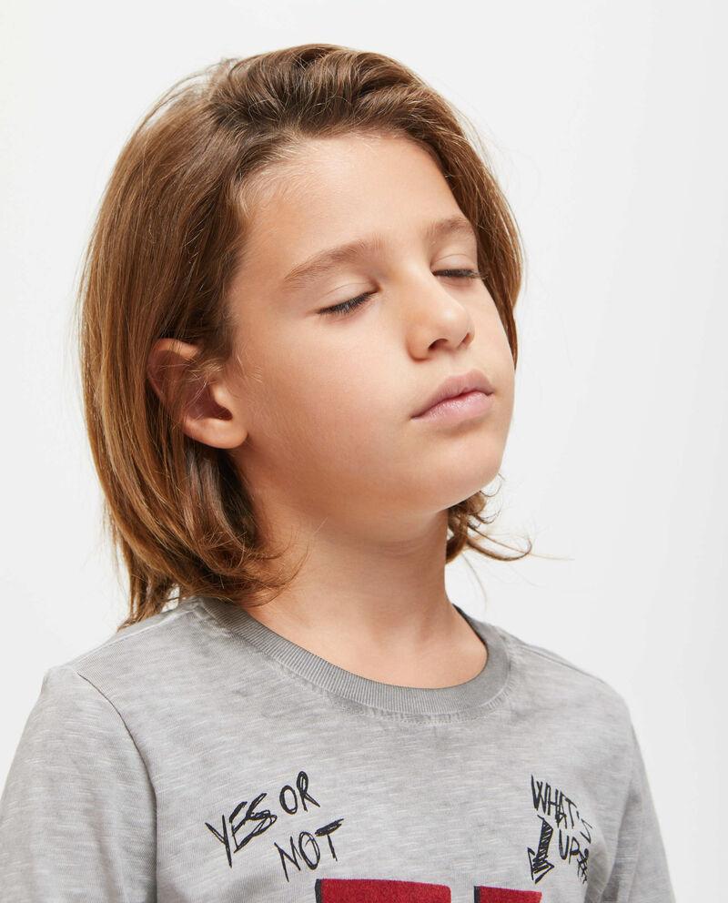 T-shirt cotone maniche lunghe