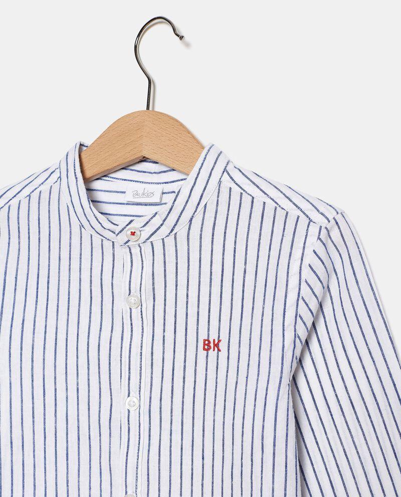 Camicia rigata in cotone misto lino bambino single tile 1