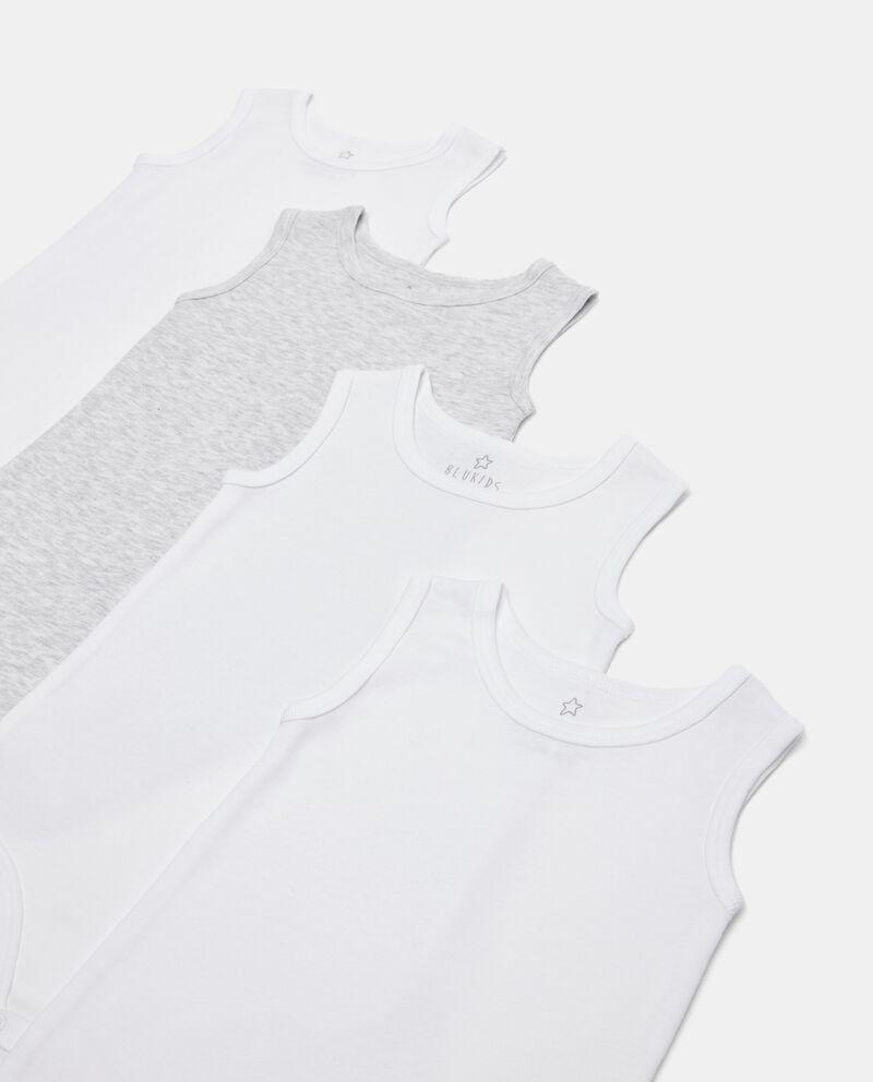Pack 4 body costina in cotone organico neonato