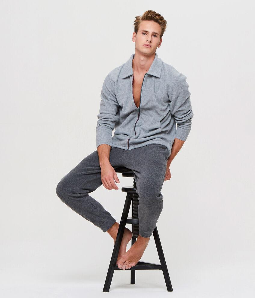 Maglia pigiama con colletto e zip