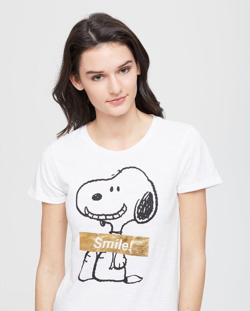 T-shirt puro cotone Snoopy e glitter