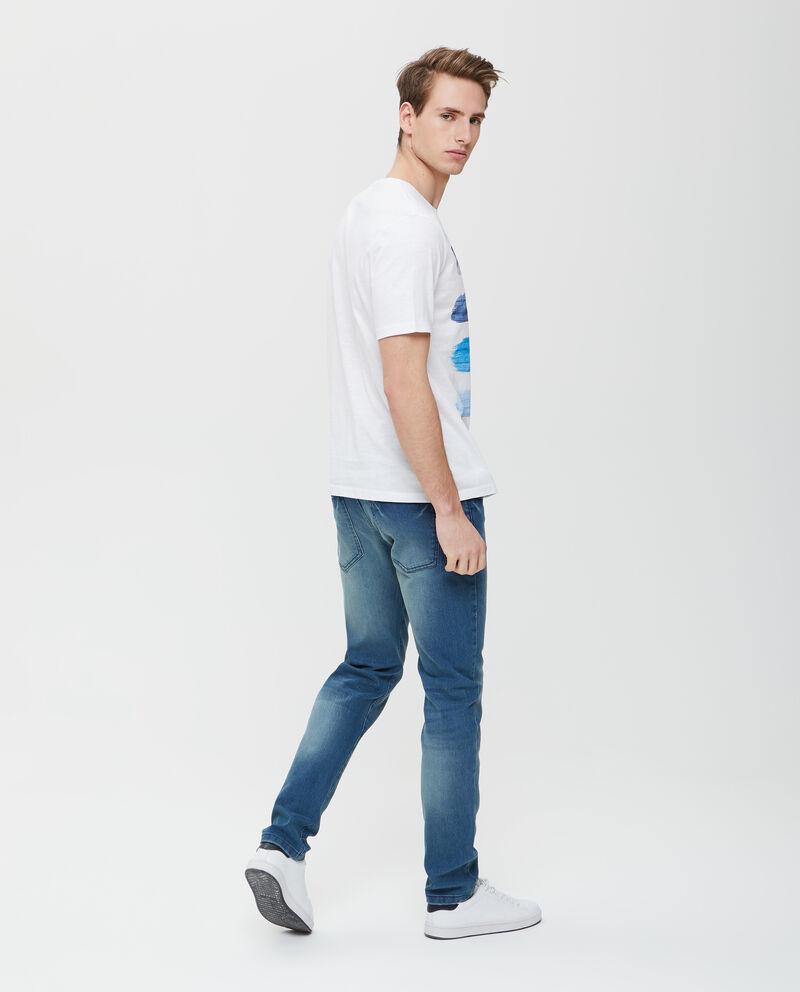 T-shirt in puro cotone con effetto pittura