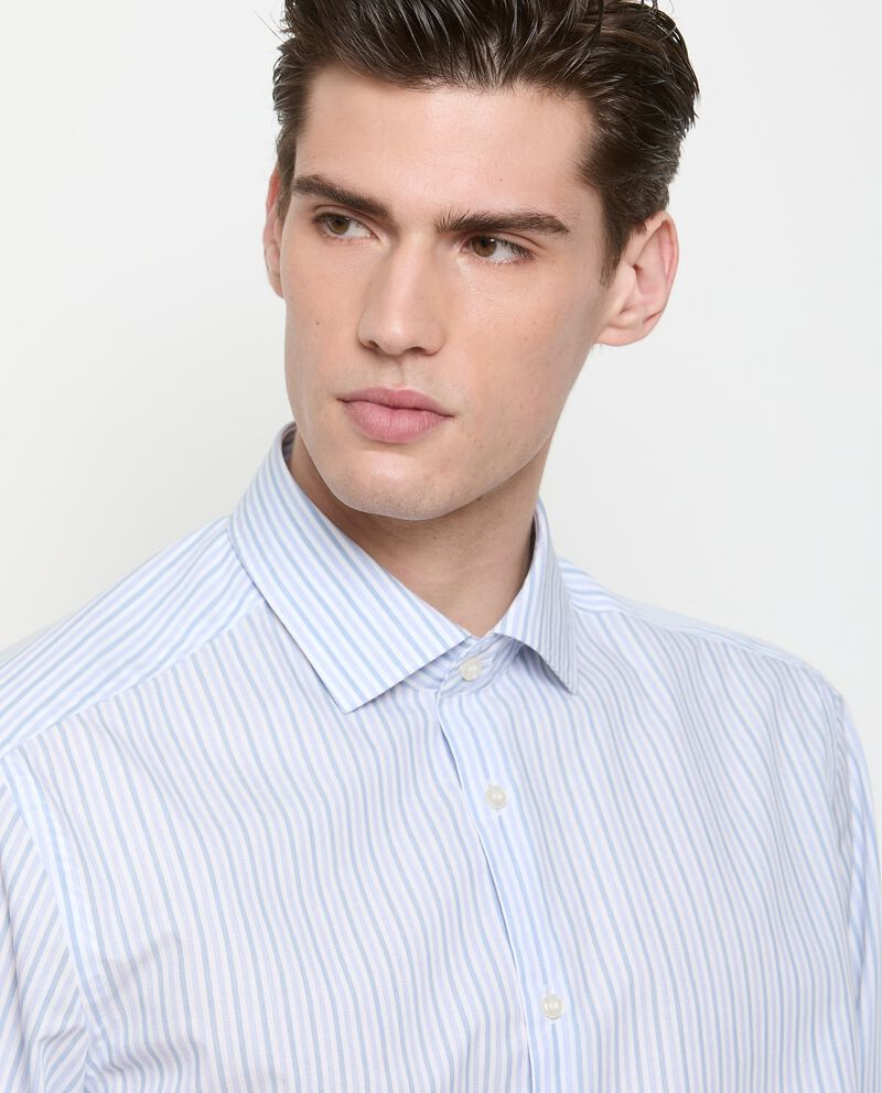 Camicia a righe di puro cotone uomo single tile 2