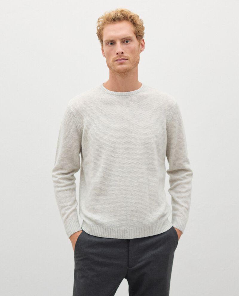 Pullover tricot in pura lana merino uomodouble bordered 0