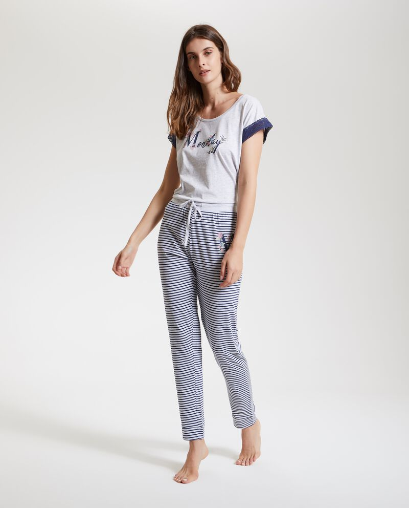 Pantaloni pigiama con righe donna