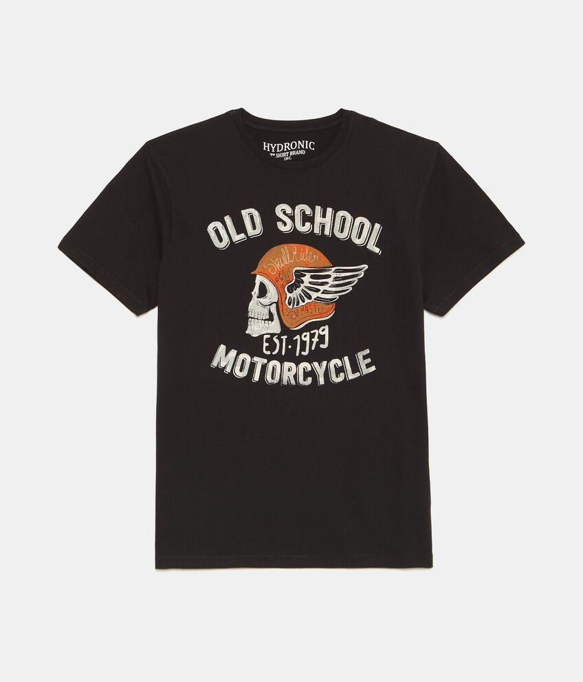T-shirt con stampa di puro cotone uomo