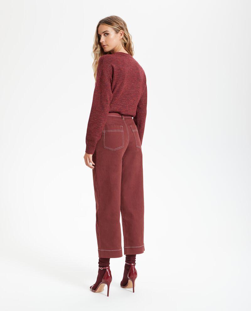 Pantalone cropped palazzo donna